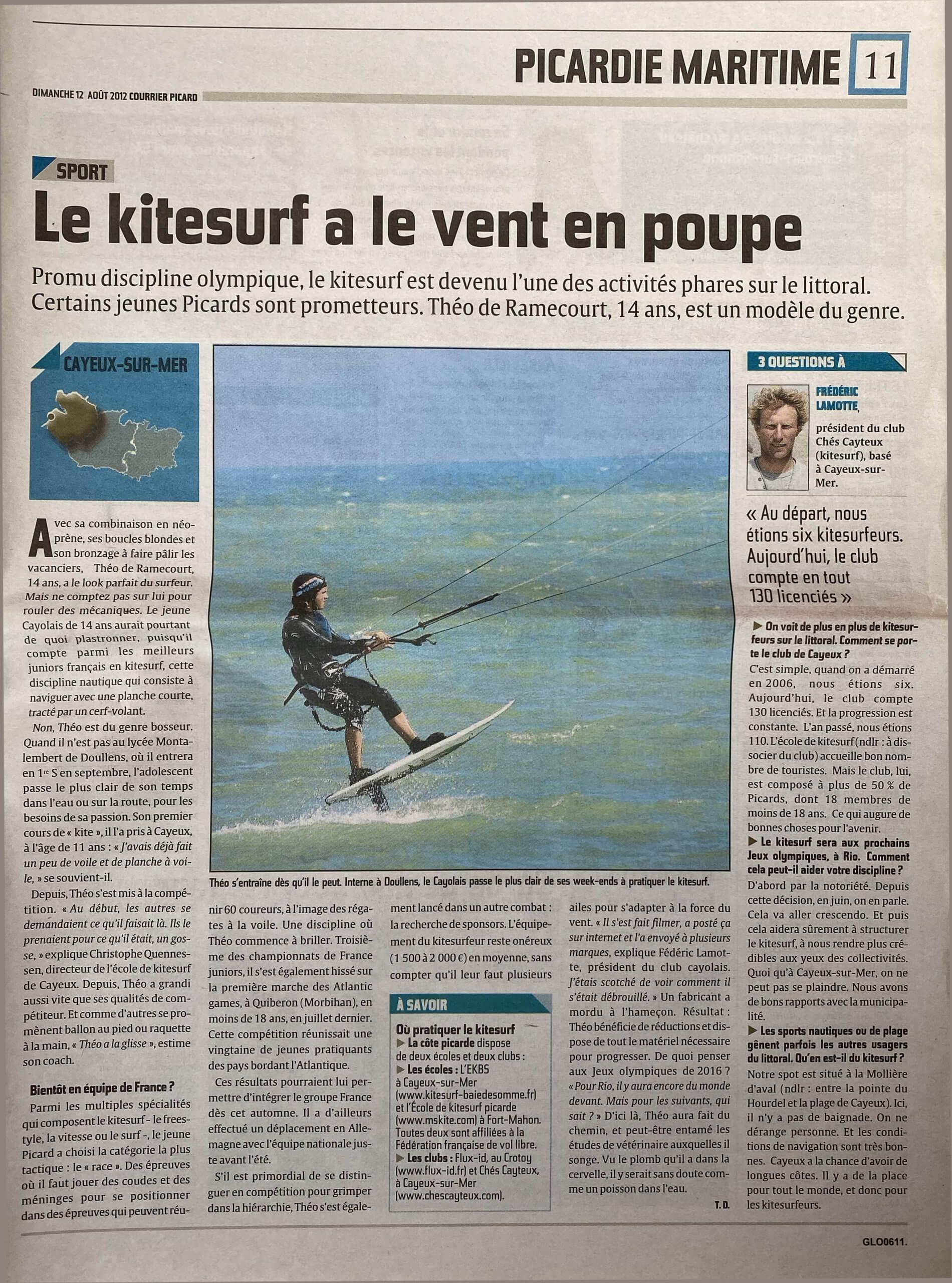 12 Aout 2012 - Courrier Picard